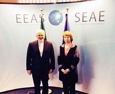 ظریف با رییس شورای اروپا در بروکسل دیدار کرد