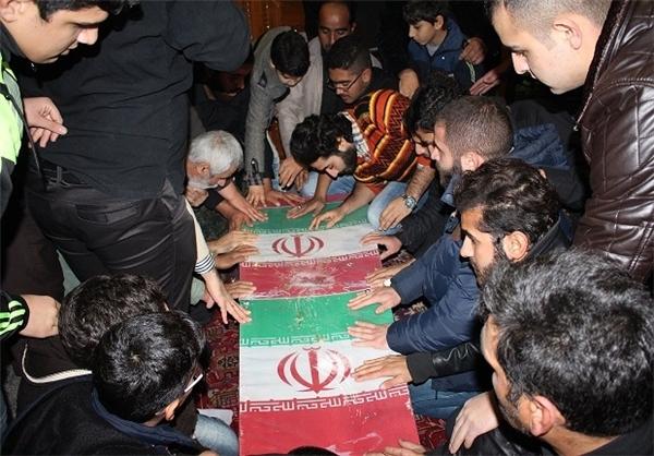 پیکر شهید گمنام دفاع مقدس در مسجدالنبی فریدونکنار تشییع شد