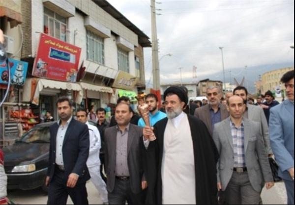 مشعل المپیاد ورزشی کارگران کشور وارد مازندران شد