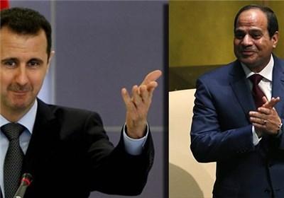 السیسی: من با سوریه و بشار اسد هستم
