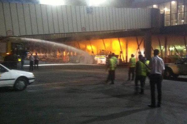 آتش گرفتن خودرو کشنده هواپیما در مهرآباد