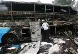 آتشسوزی اتوبوس زائران جمکران تلفات نداشت
