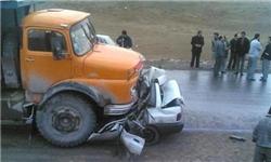 ۴ کشته در تصادف پراید و کامیون در جاده بابل