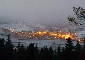 تصویری از شب برفی کیاسر