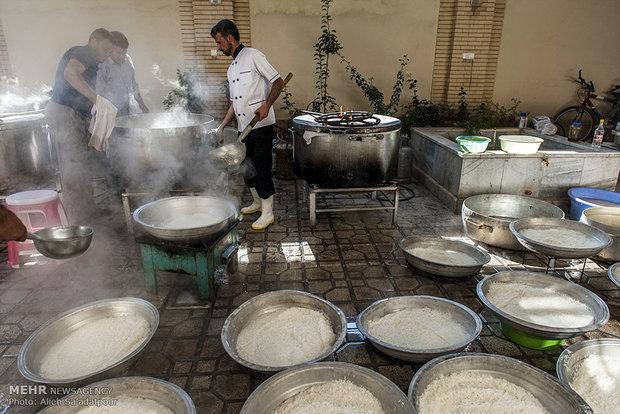 پخت ۳۰ میلیون وعده غذا برای زائرین اربعین