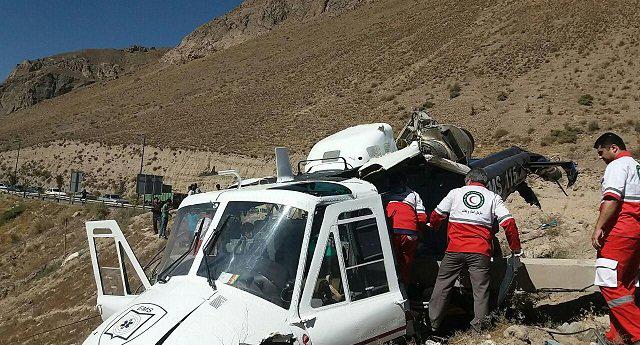 سقوط بالگرد امدادی در مازندران+عکس