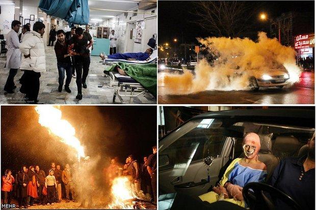 آمار قربانیان چهارشنبه سوری کشور به ۲۳۵۱ نفر رسید