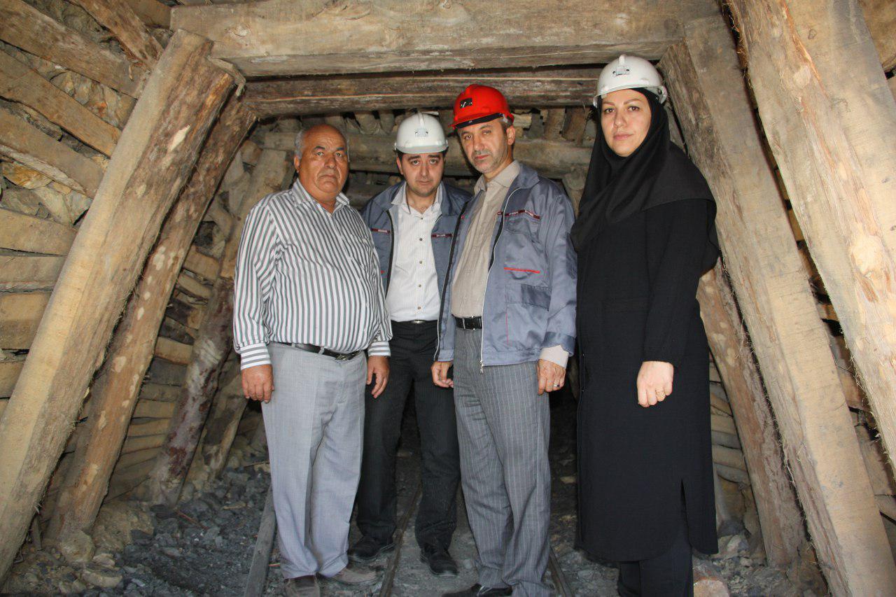 بازدید مدیر کل تعاون ، کار و رفاه اجتماعی از معدن زغال سنگ روستای سنام کیاسر