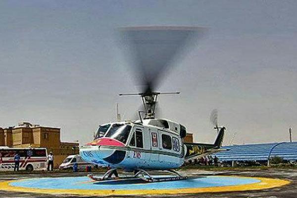 پرواز بالگرد اورژانس مازندران برای انتقال ۴ مصدوم