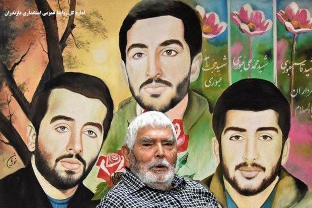 """تشییع پرشور """"حاج حسن عبوری"""" پدر شهیدان عبوری در ساری/تصاویر"""