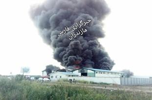 آتش سوزی در سورتینگ گهرباران