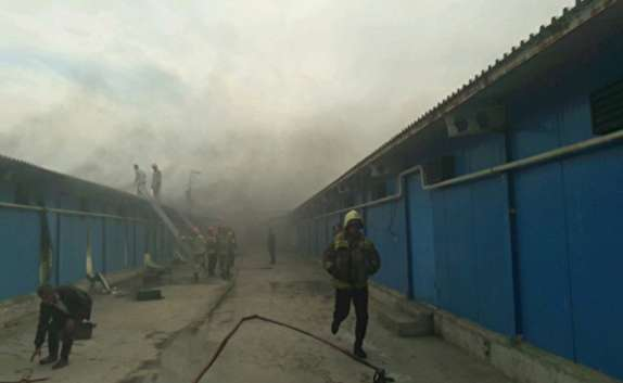 حادثه آتش سوزی در یکی از مرغداریهای ساری