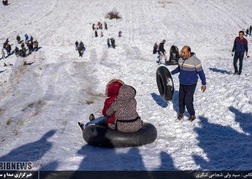زیبایی یک روز برفی در کیاسر از نگاه دوربین عکاسی