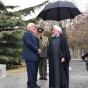 حضور ظریف در مراسم رسمی استقبال از نخست وزیر ارمنستان