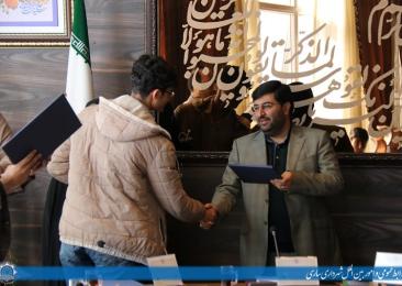 شهردار مرکز استان درجمع شهرداران مدارس (دانش آموزان) ناحیه ۲ ساری
