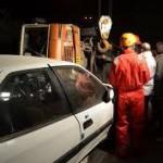 واژگونی مینیبوس در جاهد هزار جریب نکا  24 زخمی و  کشته بر جای گذاشت