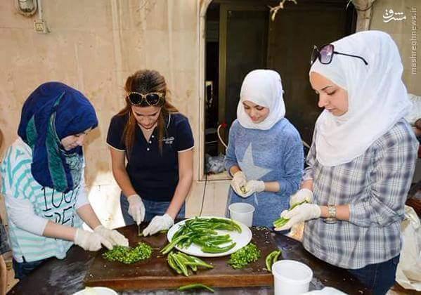 آشپزی دانشجویان برای ارتش سوریه +تصاویر