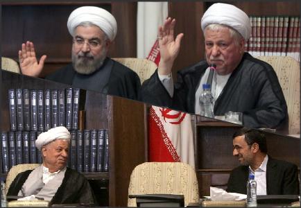 فرق نیامدن روحانی به جلسات مجمع با احمدی نژاد
