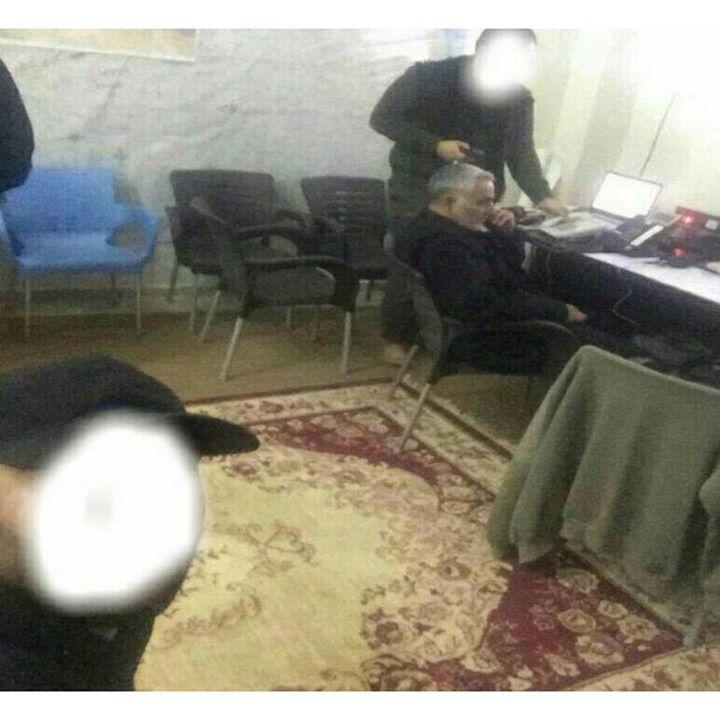 اتاق کار سردار سلیمانی در سوریه/عکس