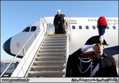 استقبال از روحانی در ایتالیا (عکس)