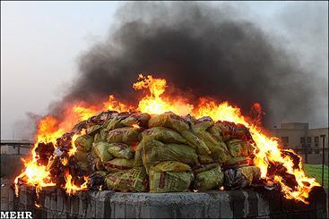 امحای۱۲۰۰ کیلوگرم انواع مواد مخدر غیر داروئی در ساری