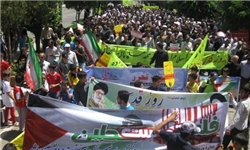 آغازراهپیمایی روز جهانی قدس با حضور پرشور مردم دیار علویان در ۶۲ نقطه مازندران با غریو کوبنده «الله اکبر»