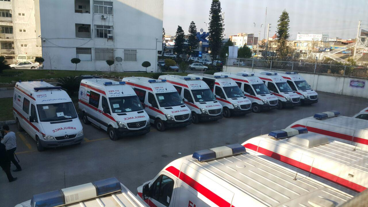 ۲۲ دستگاه آمبولانس فرسوده در اورژانس مازندران جایگزین شد
