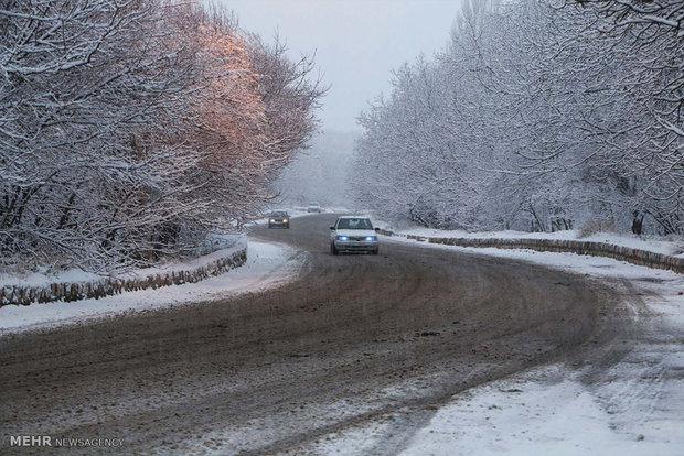 محور کندوان وبارش برف