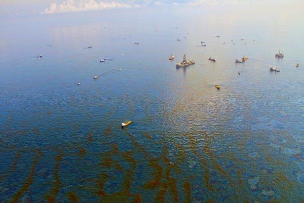 یک اقدام جدید برای برطرف کردن لکه های نفتی