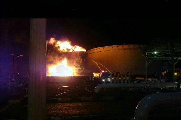آتش سوزی در پالایشگاه نفت تهران صحت ندارد