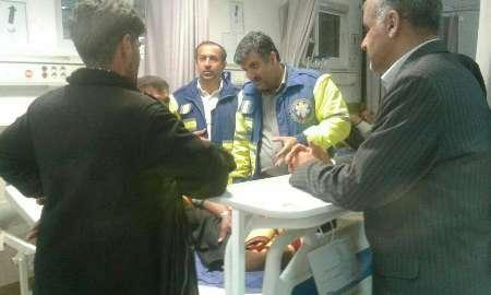 مصدومیت ۱۰ نفر در آتش سوزی  تالار عروسی در مازندران