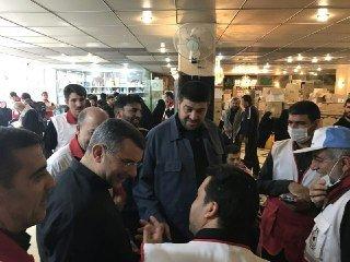 بازدید قائم مقام وزیر بهداشت از درمانگاههای هلال احمر در کربلا